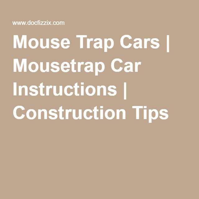 mouse trap instructions 2016