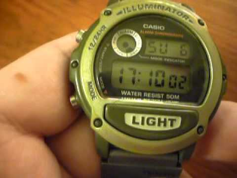 casio illuminator water resistant watch instructions