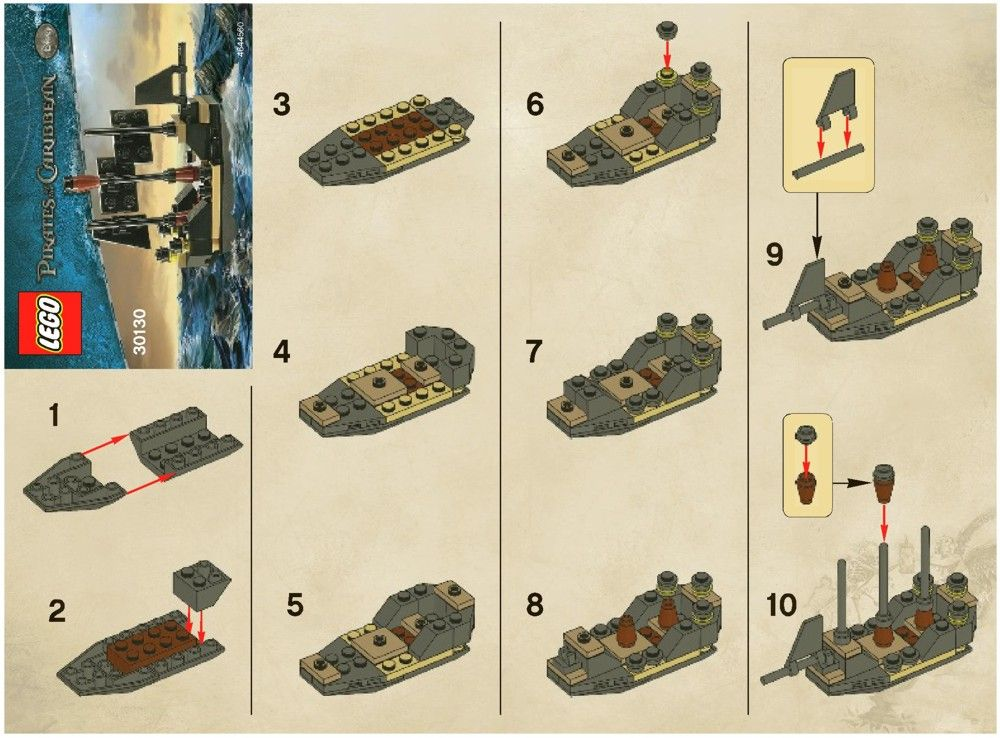 how to build a lego pirate ship instructions