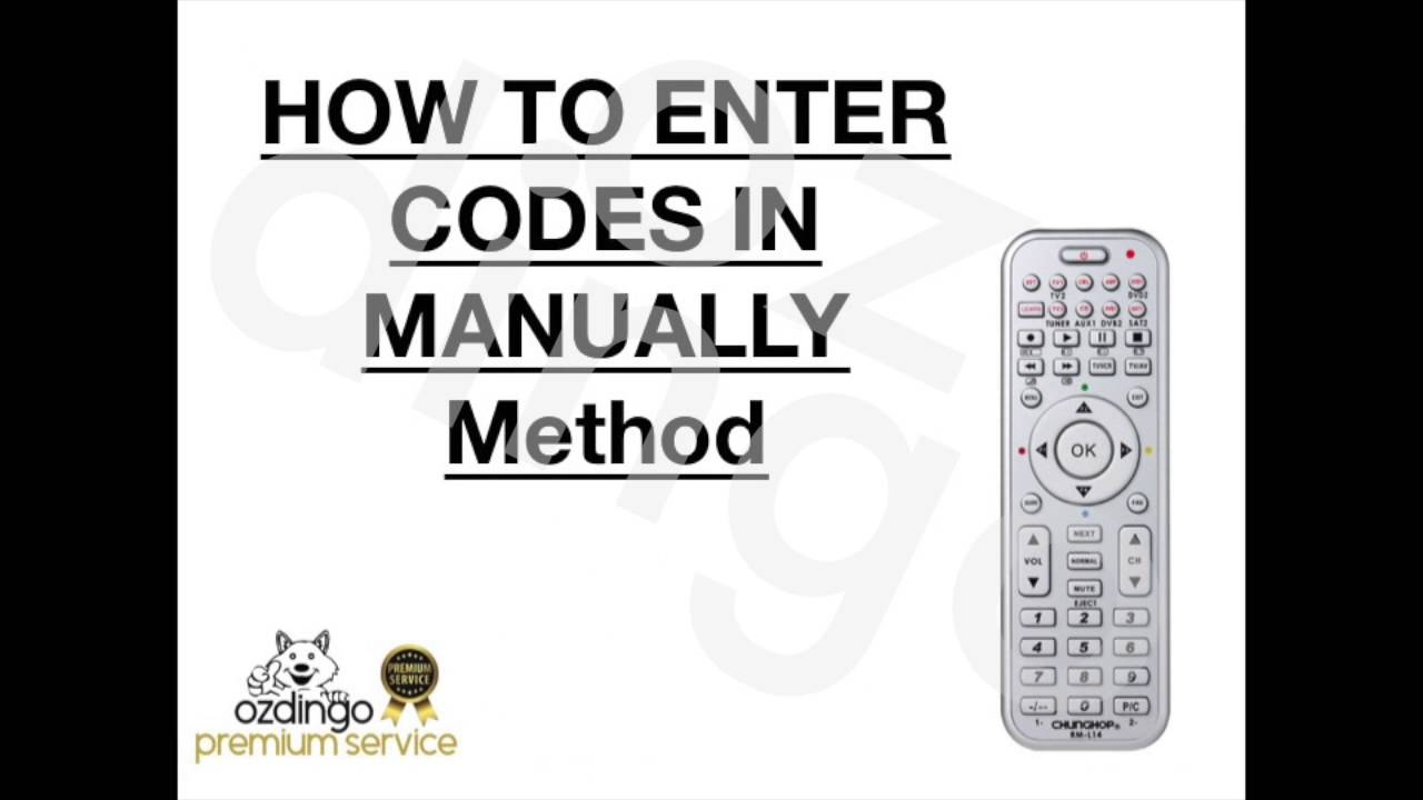 one for all universal remote instructions