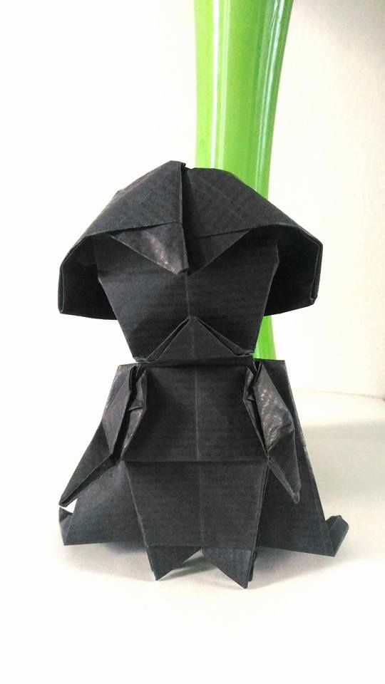 origami star wars darth vader instructions